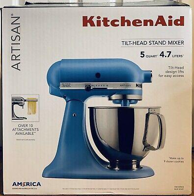 KitchenAid Artisan Series 5 Quart Tilt-Head Stand Mixer Matte Velvet Blue - NOB