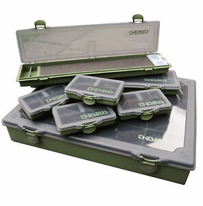 Carp-Tackle-Large-Box-Storage-System-Dividers-6-Bit-Boxs-Rig-Board-RRP-34