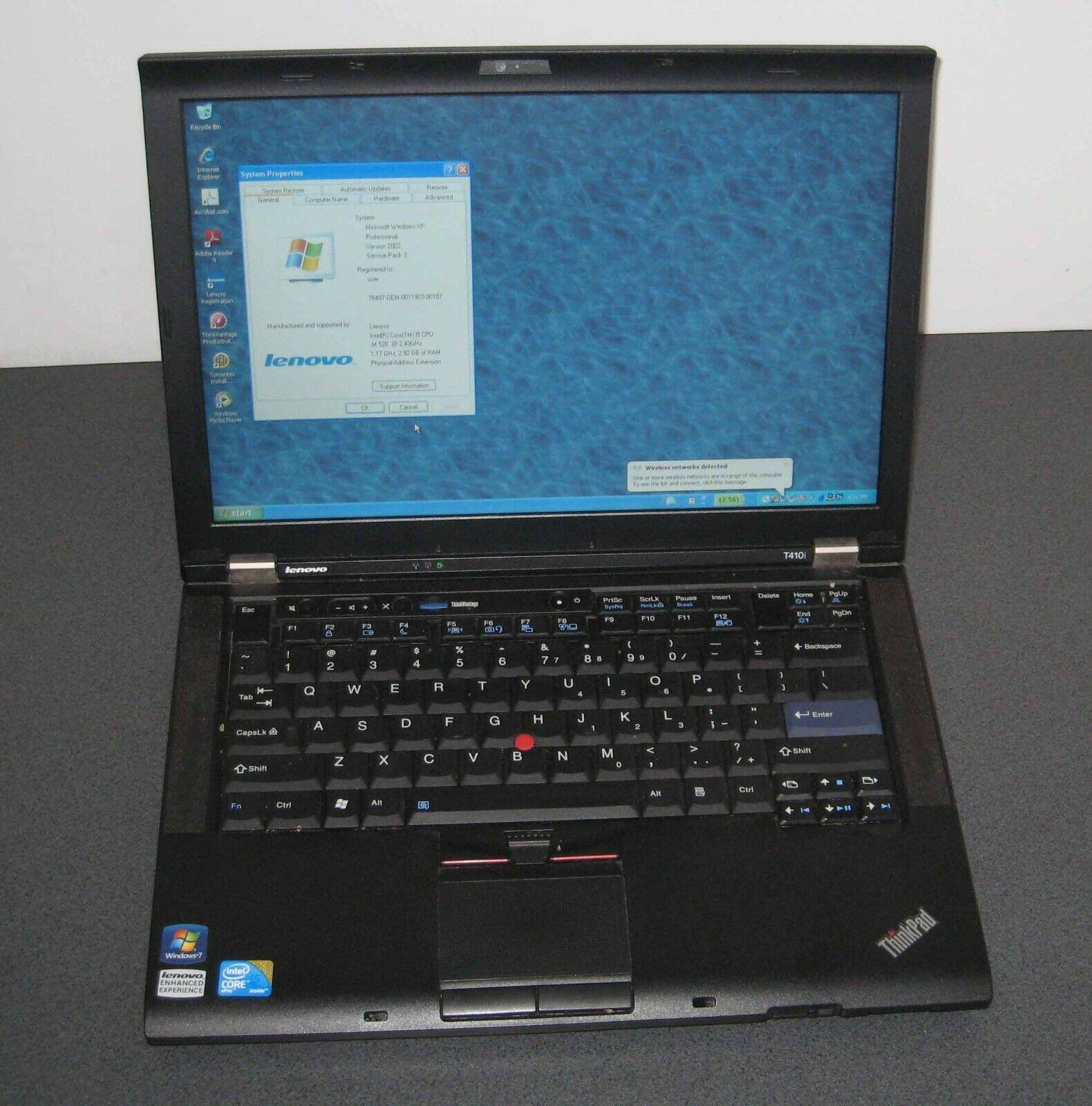 "Laptop Windows - Lenovo ThinkPad T410 14.1"" Intel Core i5 520M 4GB RAM Windows XP Pro"