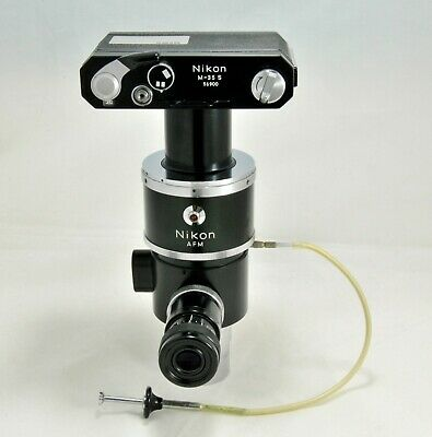 Nikon M-35 S Microscope Camera Viewport Electronic Shutter And Cable-release