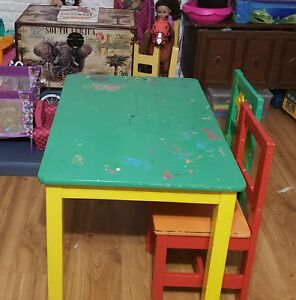 Solid wood kids table