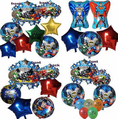 SUPERMAN BATMAN BALLOON BIRTHDAY PARTY DECOR GIFT LOLLT LOOT BAG FILLER FAVOR - Batman Party Decor
