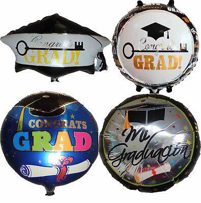 GRADUATION CAP CONGRATS GRADUATE CELEBRATION PARTY BALLOON DECORATION GIFT FAVOR