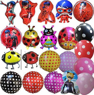 Ladybug Supplies (MIRACULOUS LADYBUG / RED YELLOW LADYBIRD BALLOON BIRTHDAY PARTY SUPPLIES)