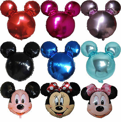 MICKEY MOUSE MINNIE MOUSE HEAD BALLOON BIRTHDAY BABY SHOWER PARTY SUPPLIES DECOR (Minnie Mouse Birthday Decorations)