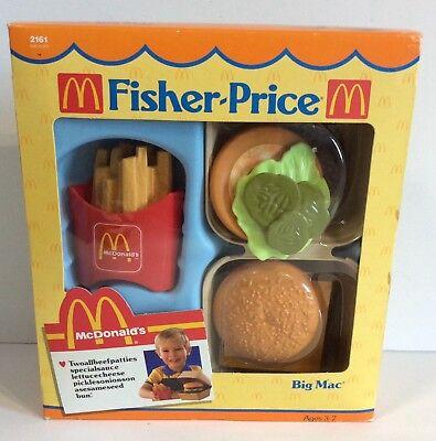 Fisher Price McDonald's Big Mac 1988 Fun With Food Playset - Model 2161 - NEW