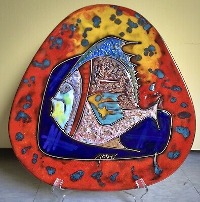 Post Modern Art Mid Century Giant Textile Fish Sculpture