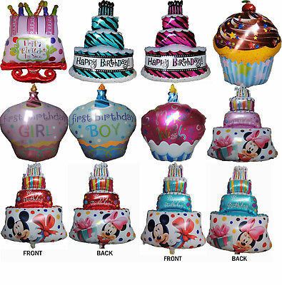 HAPPY BIRTHDAY CAKE CUPCAKE BALLOON BIRTHDAY DESSERT COOKING PARTY SUPPLIES