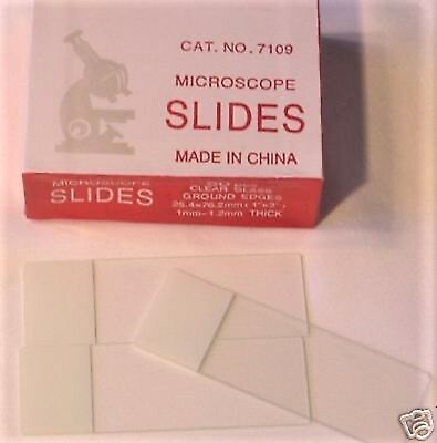 Blank Microscope Slides 50 Pcs Ground Edges Frosted White Writing Area