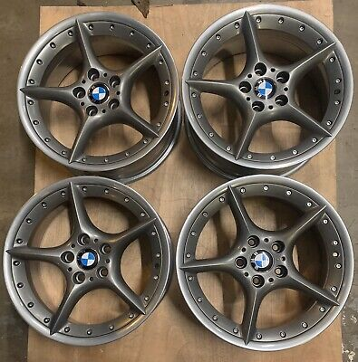 "BMW Style 108 BBS RT222 RT223 18"" Staggered Alloy Wheels. E36 E46 E85 Z3 Z4 1 3"