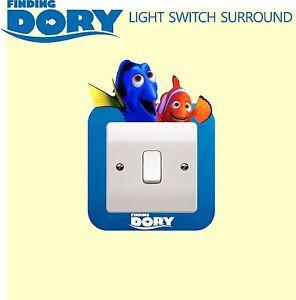 Finding Nemo Dory Light Switch Surround Sticker Cover Vinyl Frozen Kids Bedroom