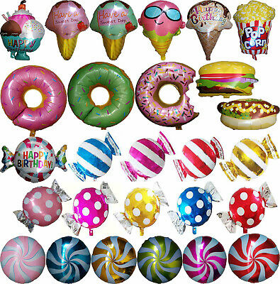 CANDY LOLLIPOP ICE CREAM PIZZA DONUT BALLOON DESSERT PARTY SUPPLIES - Ice Cream Balloons