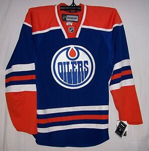 Edmonton-Oilers-YOUTH-Rbk-Premier-Home-Royal-Jersey-YOUTH-S-M-Small-Medium