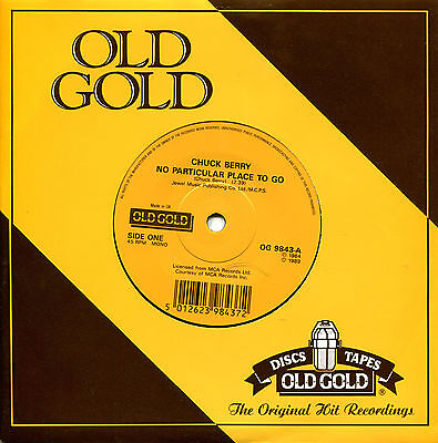 Chuck Berry  No Particular Place To Go  Uk Old Gold 45Rpm Nm Store Stock