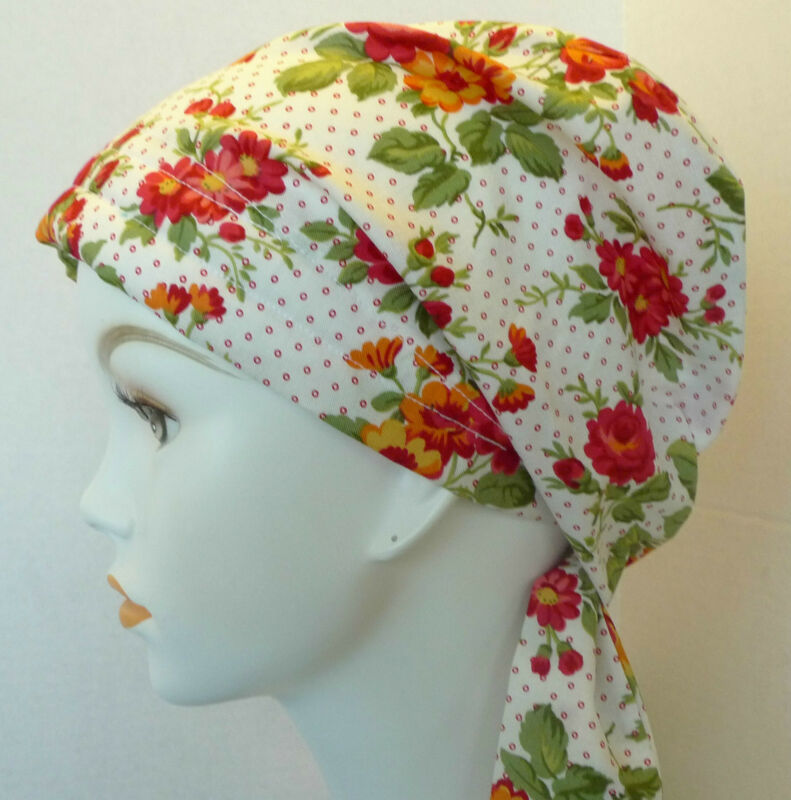 Cheerful Summer Cotton Chemo Cancer Hat Alopecia Hair loss Scarf Turban Headwrap
