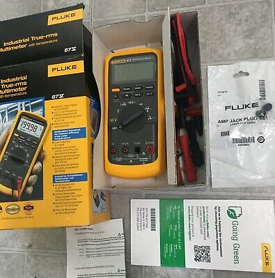 Fluke 87v 87-5 Industrial True-rms Multimeter W Temperature New In Box