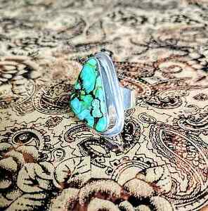 Green Mojave Turquoise Ring, size 6.75 US, Sterling Silver, NEW South Brisbane Brisbane South West Preview