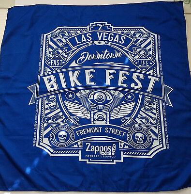 Las Vegas Downtown Bike Fest Fremont Street Bandana Blue Zappos