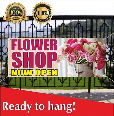 Flower Shop Now Open Banner Vinyl Mesh Banner Sign Flag Store Grand Opening