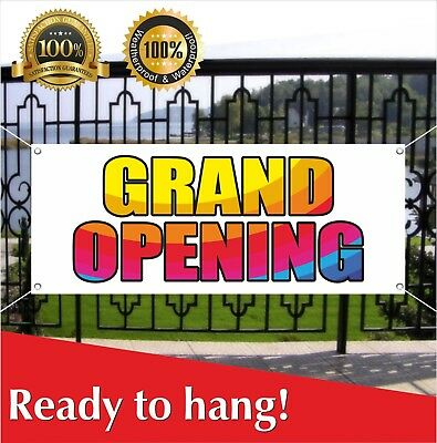 Grand Opening Banner Vinyl Mesh Banner Sign Flag New Shop Sale Many Sizes