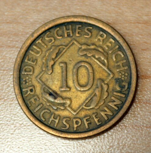 1925 A Germany - Weimar Republic 10 Reichspfennig KM# 40