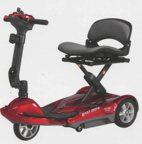 Tea Brown Automatic Foldable Lightweight Scooter, 250 Lb Cap, Remote Control