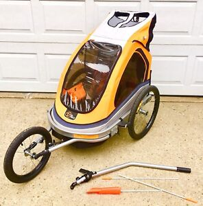Jogging Chariot with Bike attachment Like Brad New!