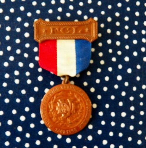 Daughters Union Veterans CIVIL WAR FCL 1861-1865 Brass Medal EXC Clasp Works