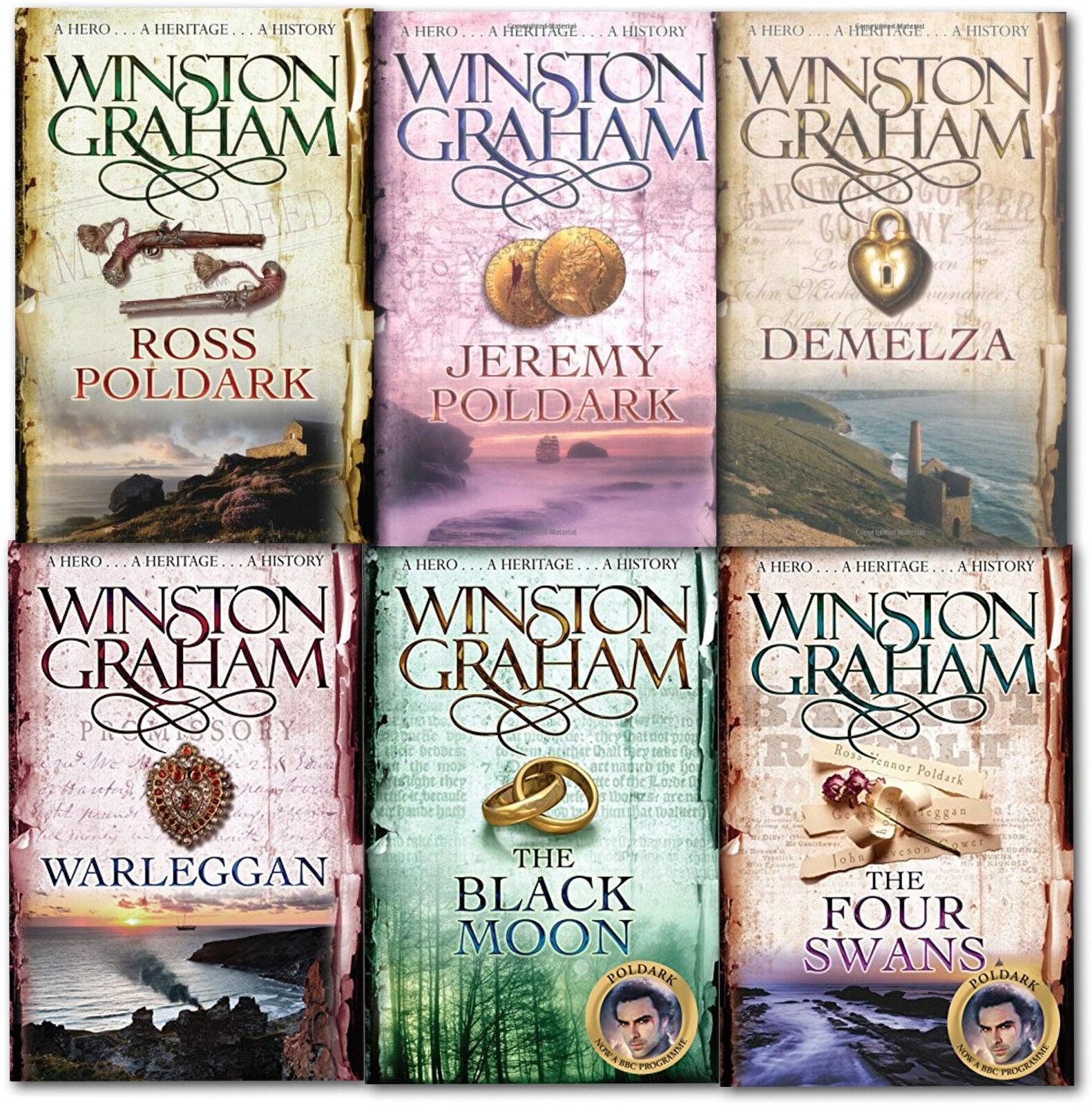 Winston Graham Poldark Series 6 Books Collection New A Novel