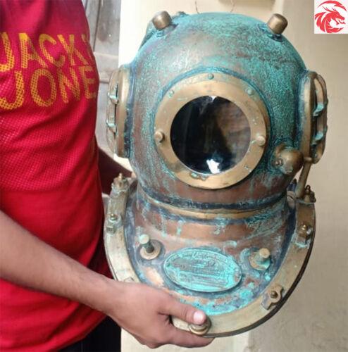 Scuba Helmet Copper Antique Rare Rusted Divers Diving Helmet Navy Mark 5 Bolt