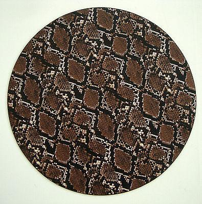 Authentic KIM SEYBERT Animal SNAKE Print Round Textured Placemat