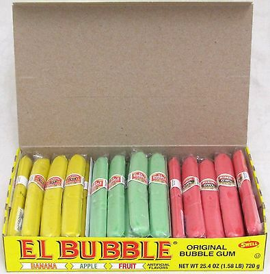 El Bubble Gum Cigars Candy Original Banana Apple Fruit Retro Bulk 36 Count Box  (Bubble Gum Cigars)