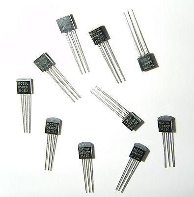 10 x 78L05 Motorola Voltage Regulators  MC78L05ACP  +5V @ 100ma Max U.K. Seller ()