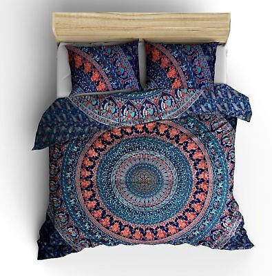 Urban Outfitters Quilt (New Urban Outfitters Twin Cotton Mandala Duvet Quilt Cover Indian Doona Cover )