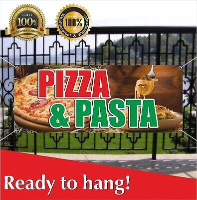 PIZZA & PASTA Banner Vinyl / Mesh Banner Sign Flag Sausage Tomato - Tomato Mozzarella Pizza