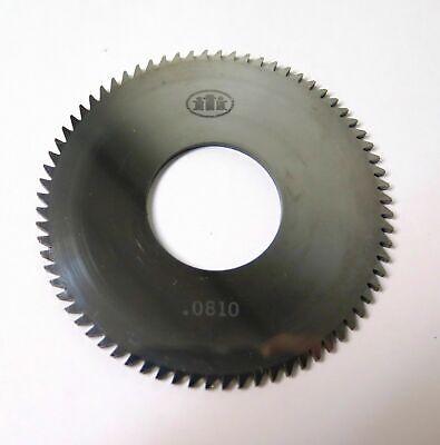 Solid Carbide Slotting Slitting Jeweler Blade Saw 2-58x.0810x1 Bore Mill Iti