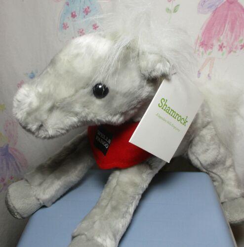 Wells Fargo Pony SHAMROCK Legendary Gray Horse 2013 Plush w/ tag