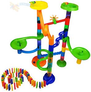 New-88-Pcs-Marble-Run-Race-and-Domino-Rally-Construction-Set-Building-Blocks-Toy