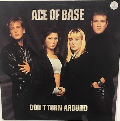 """ACE OF BASE Don't Turn Around 12"""" Single EX Vinyl 1994 Synth"""