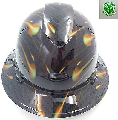 New Custom PYRAMEX(Full Brim) Hard Hat HONEYCOMB CARBON see store best