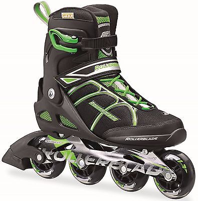 Rollerblade 2016 Macroblade 80 Black/Green Mens Inline Skates UK 10