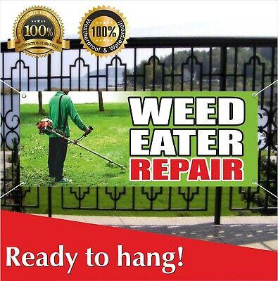 Weed Eater Repair Banner Vinyl Mesh Banner Sign Flag Lawnmower Mower Service