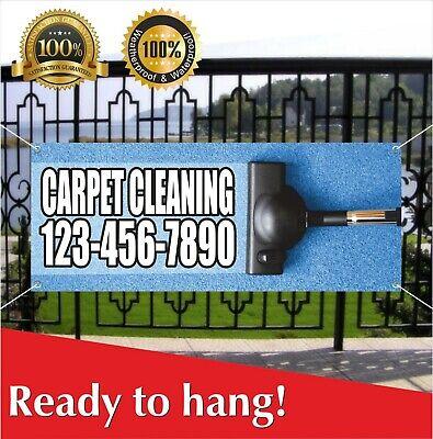 Carpet Cleaning Banner Vinyl Mesh Banner Sign Many Sizes Custom Phone