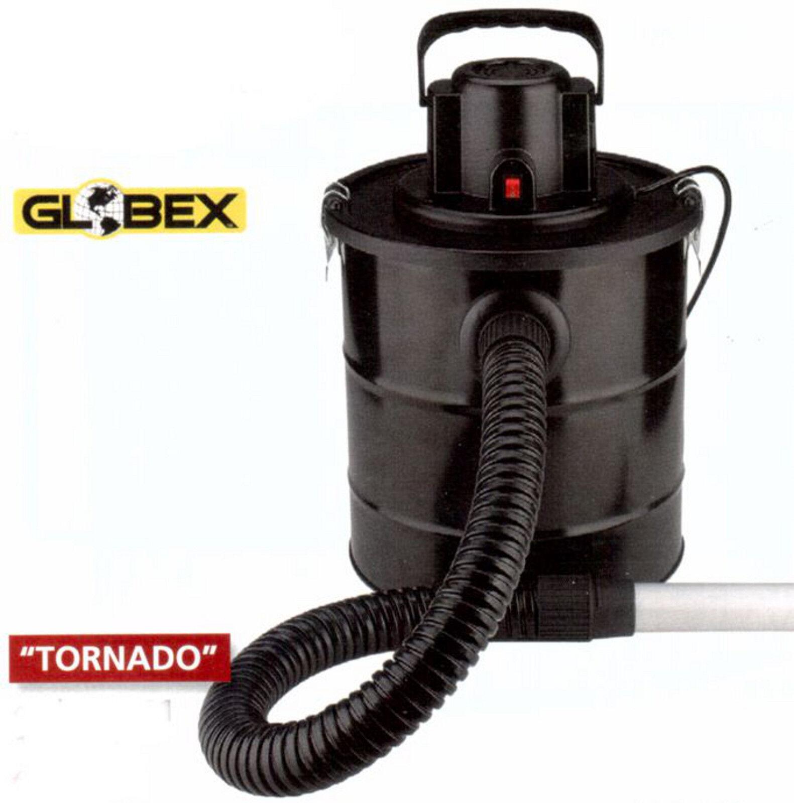 Bidone aspiracenere aspira cenere polvere Globex Tornado HEPA 18 lt 1200 W