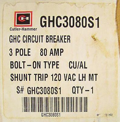 EATON CUTLER HAMMER FD3020VL 3 Pole 20 Amp Type FD Circuit Breaker 50° FD3020V
