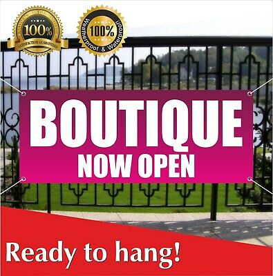 Boutique Now Open Banner Vinyl Mesh Banner Sign New Business Grand Opening