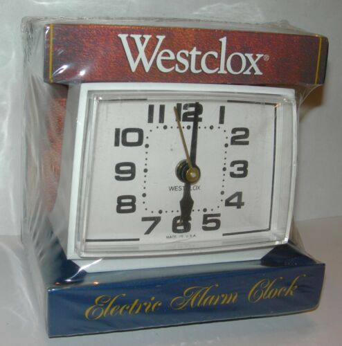 Vintage Westclox Electric Alarm Clock NEW in Box USA