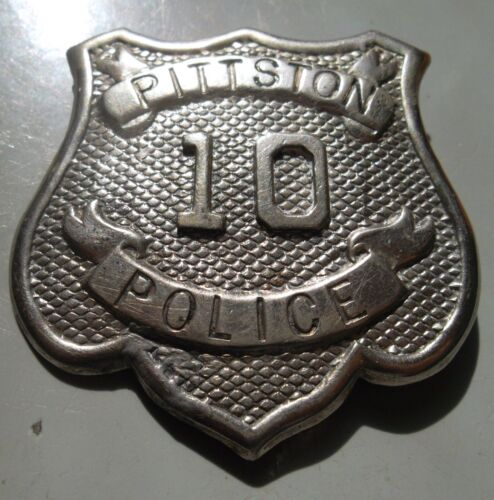 OBSOLETE POLICE BADGE CIRCA 1870 PITTSTON CITY PA. BADGE # 10