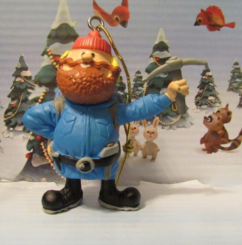 "Rudolph Island of Misfit Toys YUKON CORNELIUS 2.5"" PVC Ornament Figure Figurine"