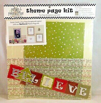 Scrapbook Page Layout Ideas - Believe Theme Page Kit Scrapbook Vellum Cardstock Layout Ideas Pressed Petals